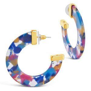 Sterling Forever Retro Resort Resin Hoop Earrings